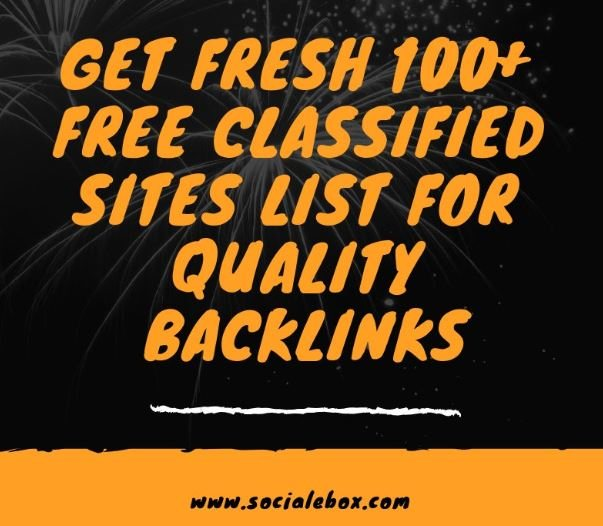Get Fresh 100+ Free Indian Classified Sites list for Quality